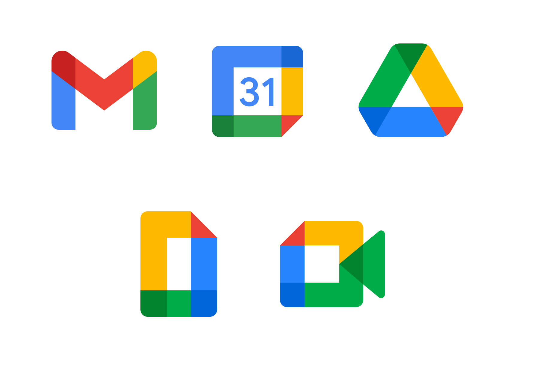 Google Workspace Icons.