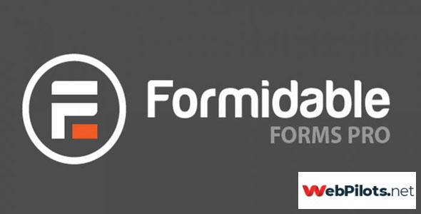 Formidable Forms Pro v4.08